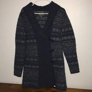 Women's Woolrich Lambs Wool Blue Sweater Medium